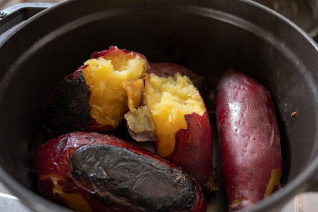 ストウブで焼き芋
